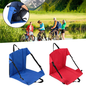 Clip-On Portable Folding Camping Outdoor Beach Side Hiking Stool Tool - thegsnd
