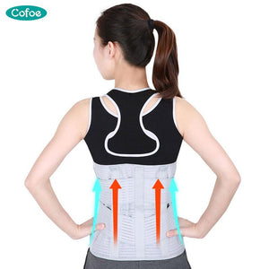 Cofoe Medical Waist Support Protector Brace Back Belt Lumbar Injury Orthosis Fixation Protect Steel c Fixed Orthodontic - thegsnd
