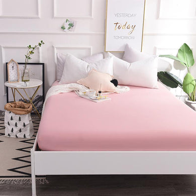 Custom Pure Cotton Luxury Solid Fitted Sheet Bedsheet Bed Sheet With Elastic Band Linens Bedding Sheets Mattress Cover #s - thegsnd