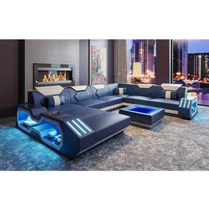 Custom made top quality living room furniture living room sofa set leather sofa 5 6 7 8 seater - thegsnd