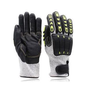 Cut Resistant Gloves Anti Impact Vibration Oil GMG TPR Safety Work Gloves Anti Cut Proof Shock Mechanics Impact Resistant - thegsnd