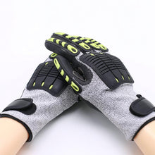 Load image into Gallery viewer, Cut Resistant Gloves Anti Impact Vibration Oil GMG TPR Safety Work Gloves Anti Cut Proof Shock Mechanics Impact Resistant - thegsnd