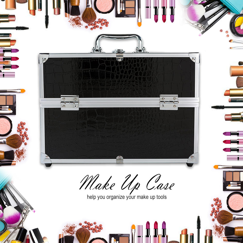 Cute Cosmetic Makeup Organizer New Metal Make Up Storage Box For Jewelry Box Women Organizer Travel Storage Boxes Bag Suitcase - thegsnd