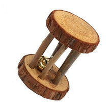 Load image into Gallery viewer, Cute Natural Wooden Rabbits Toys Pine Dumbells Unicycle Bell Roller Chew Toys for Guinea Pigs Rat Small Pet Molars Supplies-Wooden Toy-thegsnd-05-United States-S-thegsnd
