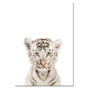 Baby Animal Cat Tiger Panda Wall Art Canvas Painting Nursery Nordic Posters and Prints Decorative Picture Kids Room Decor - thegsnd