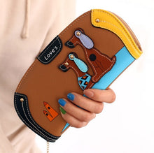 Load image into Gallery viewer, LY.SHARK Cartoon dog women purse bag designer wallets famous brand women wallet long money clip dollar price zipper coin pockets - thegsnd
