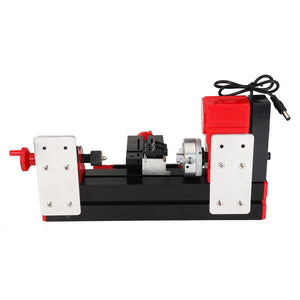 DC12V 3A 36W Mini Lathe Milling Machine Bench Drill DIY Woodworking Power Tool General Woodworking Driller Metal Wood Lathes - thegsnd