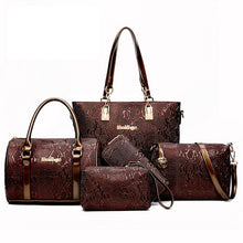Load image into Gallery viewer, Women bag Leather Handbags Fashion Shoulder Bags Female Purse High Quality Six-Piece Set Designer Brand Bolsa Feminina - thegsnd