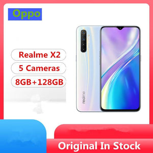 "Oppo Realme X2 Cell Phone Snapdragon 730G Android 9.0 6.4"" Super Amoled 8G RAM 128GB ROM 64.0MP 30W Charge NFC - thegsnd"