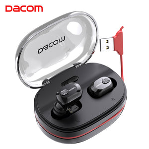 Dacom K6H Pro Wireless Headphones TWS True Wireless Earbuds Ear Buds Phone Bluetooth Earphone 5.0 Mini Headset PK i12 i10 tws - thegsnd