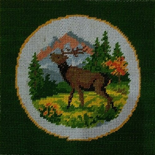 A Stag In Mountain Forest 🐐 (Multi Color_47*38). - thegsnd