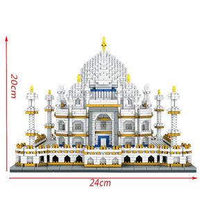 Diamond Mini Building Bricks City Architecture Land marks Taj Mahal Palace 3D Model Children's Educational Toy - thegsnd