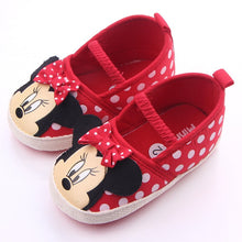 Load image into Gallery viewer, Disney Cute Minnie Baby Girl Shoes Newborn Spring Summer Girl Baby Princess Shoes Bowknot Polka Dot Flower Soft-Soled Crib Shoes - thegsnd