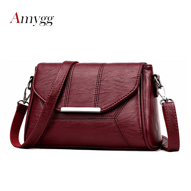 Soft Crossbody Bags For Women Pu Leather Handbags Designer Women Shoulder Bags High Quality Solid Women Messenger Bags - thegsnd