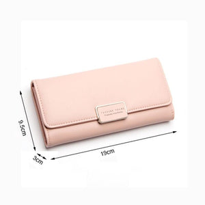 Fashion Women's Purse Women Wallet Long Passport Female Coin Clutch Card Holder Luxury Designer Simple Wallets Female Purses - thegsnd