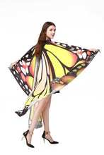Load image into Gallery viewer, 7 Colors Women Scarf Pashmina Butterfly Wing Cape Peacock Shawl Wrap Gifts Cute Novelty Print Scarves Pashminas - thegsnd