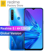 Load image into Gallery viewer, EU Version OPPO Realme 5 6.5'' 3/4GB RAM 64/128GB ROM Snapdragon 665 AIE Octa-Core 5000mAh 12MP+13MP Quad Cameras Mobile Phone - thegsnd