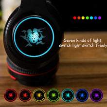 Load image into Gallery viewer, Earphone bluetooth 4.1 wireless HIFI  Seven-color LED over ear headset waterproof with microphone headphones auricolari headset - thegsnd