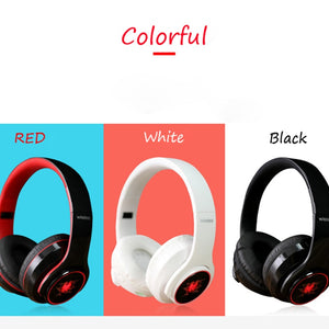 Earphone bluetooth 4.1 wireless HIFI  Seven-color LED over ear headset waterproof with microphone headphones auricolari headset - thegsnd