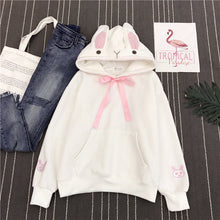Load image into Gallery viewer, Women Cute Bunny Hoodie Long Sleeve Hoodie Lovely Female Rabbit Hoody Sweatshirts Loose Size Lovely Cotton Treetwear - thegsnd