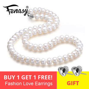 FENASY fine AAAA high quality natural freshwater pearl necklace for women 2018 new 7-10mm pearl jewelry 45cm choker necklace - thegsnd