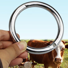 Load image into Gallery viewer, Farm Livestock Cattle Nose Ring Circle Stainless steel Nose Pliers Horse Ass Traction Tool Farm Aniaml Livestock Equipment - thegsnd