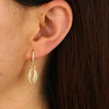 Load image into Gallery viewer, Fashion jewelry 2019 summer beach new arrived women sea shell charm  dangle drop earring Gold color - thegsnd