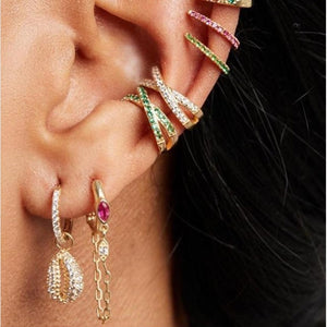 Fashion jewelry 2019 summer beach new arrived women sea shell charm  dangle drop earring Gold color - thegsnd