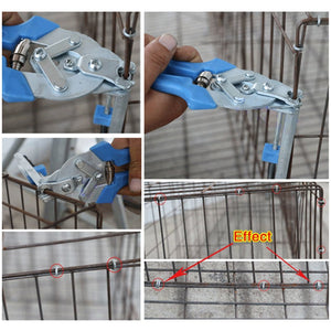 Fastening Clamp Repair Tool Animal Clamp Tools Animal Wire Cage Clamp Pet Cages Pliers Chicken Quail Bird Cage Installation - thegsnd