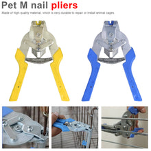 Load image into Gallery viewer, Fastening Clamp Repair Tool Animal Clamp Tools Animal Wire Cage Clamp Pet Cages Pliers Chicken Quail Bird Cage Installation - thegsnd