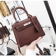 Load image into Gallery viewer, Women's Bag Alligator Bags Fashion lock Luxury Handbags High Quality PU leather Designer Shoulder Female Messenger - thegsnd