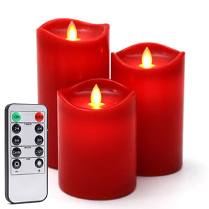 Set of 6 LED Flameless Candles Halloween Or Gothic Décor Party Lights Decoration