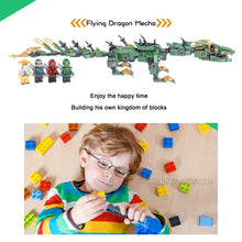Load image into Gallery viewer, Flying Green Ninja Dragon Mecha Fit Ninjagoes 70612 Set Minifigs Figures Building Blocks Toys For Children Gifts-Kids Playing Zone-thegsnd