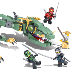 Flying Green Ninja Dragon Mecha Fit Ninjagoes 70612 Set Minifigs Figures Building Blocks Toys For Children Gifts-Kids Playing Zone-thegsnd