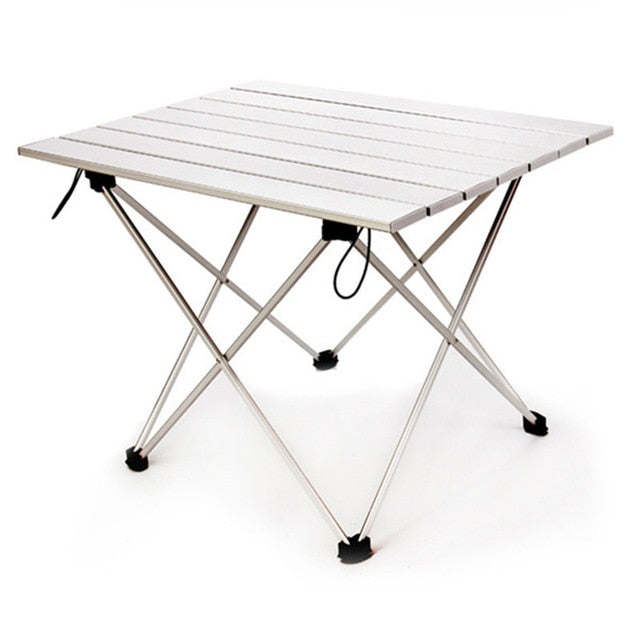 Foldable Camping Desk Outdoor Traveling Hiking fishing Picnic Desk Aluminum Alloy Ultra-light anti-rust Foldable stable Table - thegsnd