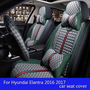 For Hyundai Elantra 2016 2017 pu leather car seat covers car accessories - thegsnd