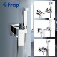Frap 6 styles Brass Single Cold & Cold hot Water Corner Valve Bidet faucets Function square Hand Shower Head Tap Crane for woman-Shower Set-thegsnd