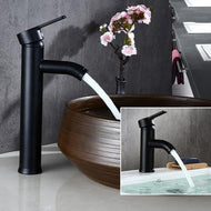 Biggers Black Color Stainless Steel Bathroom Basin Faucet Single Handle Cold And Hot Water Mixer - thegsnd