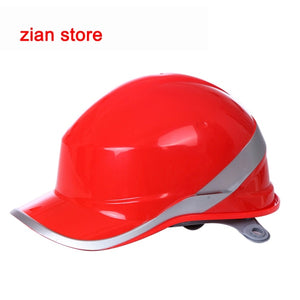 Free print logo Safety Helmet Hard Hat Work Cap ABS Insulation Material With Phosphor Stripe Construction Protect Helmets - thegsnd