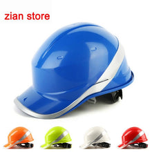Load image into Gallery viewer, Free print logo Safety Helmet Hard Hat Work Cap ABS Insulation Material With Phosphor Stripe Construction Protect Helmets - thegsnd
