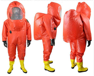 Full closure of heavy alkali chemical protective coveralls, ammonia gas chemical warfare suits,harmful gas rescue clothing. - thegsnd