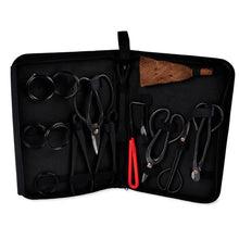Load image into Gallery viewer, Garden Bonsai Tool Set Carbon Steel Kit Cutter Scissors with Nylon Case  CLH@8 - thegsnd