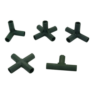 Gardening Flower support Lawn Stakes Edging Corner Connectors Suitable for 16mm Plant Stakes agriculture tools 30 Pcs - thegsnd