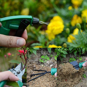 Gardening Tool Set Metal Small Shovel Rake Scissor Spraying Bottle-M35 - thegsnd