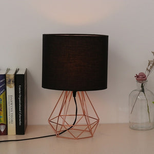 Geometric Bracket Table Lamps E27 Lamp Base Decorative Retro Shade Table Lights Bedside Home Lighting for Bedroom Living Room - thegsnd