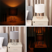 Load image into Gallery viewer, Geometric Bracket Table Lamps E27 Lamp Base Decorative Retro Shade Table Lights Bedside Home Lighting for Bedroom Living Room - thegsnd