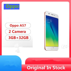 "Global Firmware Oppo A57 4G LTE Smart Phone Snapdragon 435 Android 6.0 5.2"" IPS 1280x720 3GB RAM 32GB ROM 16.0MP Fingerprint - thegsnd"