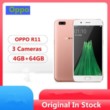 "Load image into Gallery viewer, Global Firmware Oppo R11 4G LTE Smart Phone Snapdragon 660 Android 7.1 5.5"" IPS 1920x1080 4GB RAM 64GB ROM 20.0MP Fingerprint - thegsnd"