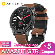 Global Version Amazfit GTR 47mm Smart Watch Huami 5ATM Waterproof Smartwatch 24 Days Battery GPS Music Control For Android IOS - thegsnd