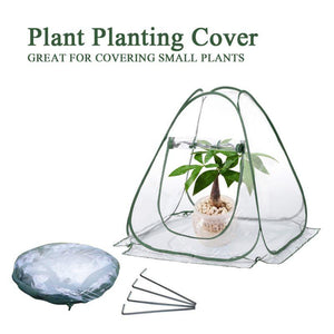 Greenhouse Tent Small Portable Clear PVC Popup Grow House Gardening Plant Cover Flower Shelter Outdoor or Indoor Planting Tool - thegsnd